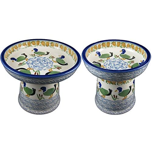 Polish Pottery Raised Cat or Small Dog Dinnerware Set in Pattern  Ducks  - 1  sc 1 st  Top Nosh Cakes & Polish Pottery Raised Cat or Small Dog Dinnerware Set in Pattern ...