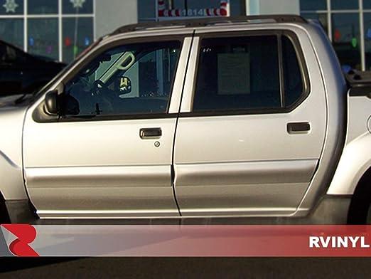 Carbon Fiber 4D Red Rtrim Pillar Post Decal Trim for Ford Explorer Sport Trac 2001-2005
