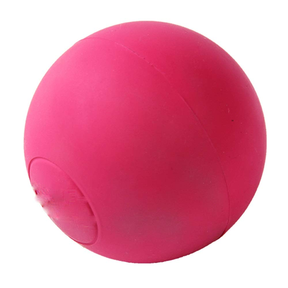 Pink BLWX Pet Toys Dog Toys Biting Solid Training Ball Large Dog Molars Elastic Rubber Ball Teddy golden Retriever Pet Toy Ball pet Toy (color   Pink)