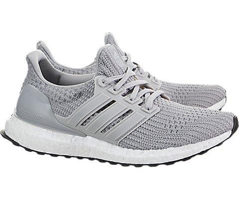 adidas Kids' Grade School Ultra Boost Running Shoes (6, Grey/Black)