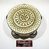 Henna Mandala Rustic Tambourine