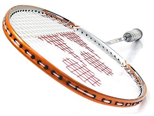 Yonex NANORAY 20 NEW Badminton Racket 2017 Racquet Silver/Orange 3U/G4 Pre-strung with a Half-length Cover (NR20-Silver/Orange) by Yonex (Image #1)