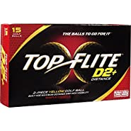 2014 Top Flite D2+ Distance Yellow (15 Pack)