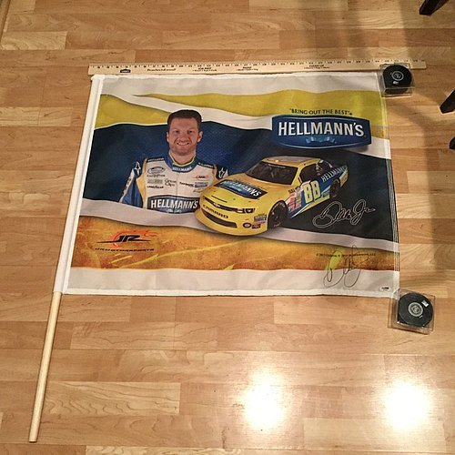 dale-earnhardt-jr-signed-hellmans-mayo-30x24-racing-flag-psa-dna-authenticated
