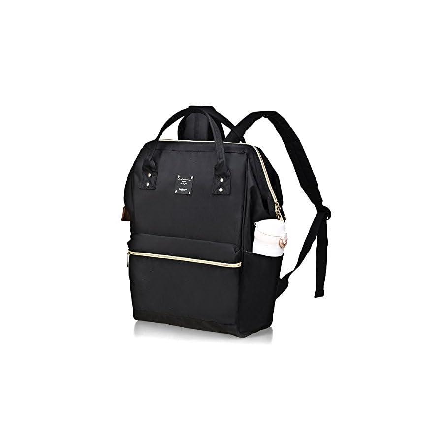 BebamourCasual College Backpack Lightweight Travel Wide Open Back to School Backpack for Women&Men