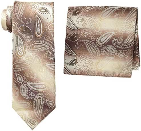 Stacy Adams Men's Microfiber Pasiley Print Tie Set
