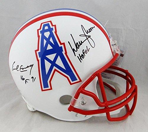 - Warren Moon Earl Campbell Signed Houston Oilers F/S Helmet- -W/Beckett Auth - JSA Certified - Autographed NFL Helmets