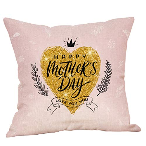 KESEELY Cushion Cover - Letter Pattren Print Pillow Case Sofa Bed Home Decoration for Festival