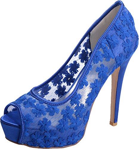 1 Color 37 De Azul Plataforma 3 Find Mujer Talla Encaje Nice zSTFXnqH