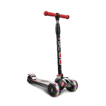 Pan&Pan Scooter de 3 Ruedas para niños - Scooter Plegable para niños con Altura Ajustable con