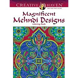 Creative Haven Magnificent Mehndi Designs Coloring Book (Adult Coloring)