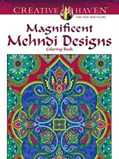 Creative Haven Magnificent Mehndi Designs Coloring Book Adult