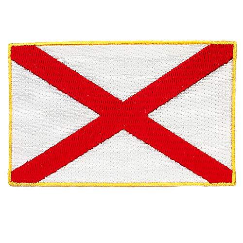 Alabama State Flag Embroidered Patch Iron-On AL Emblem