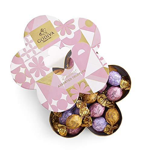 Godiva Chocolatier Spring IWC Flower Gift Box, Easter Baskets, Easter Gifts for Kids, Easter Chocolate, Great as a Gift, Assorted Chocolates, 32 Count