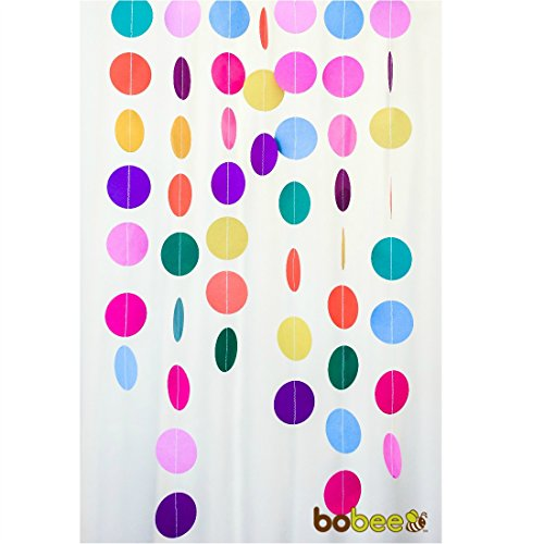 Bobee Rainbow Paper Garland Party Decorations, Girl's Birthday, Fiesta Streamers