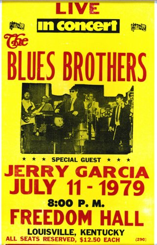 """The Blues Brothers with Special Guest Jerry Garcia 14"""" X 22"""" Vintage Style Concert Poster"""