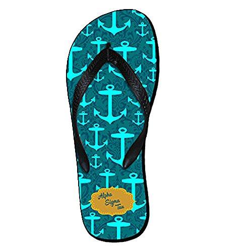 Ekspress Utforming Gruppe Alfa Sigma Tau Ast Maskot Farge Flip Flops