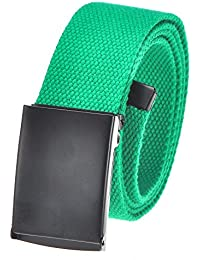 "Men's Cut To Fit 3 Pack Or 1 Pack Web Belt With Flip-Top Buckle (16 Colors/56"" Long)"