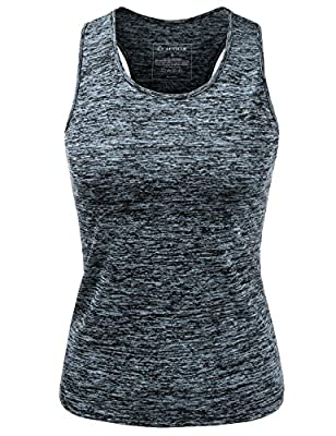 NINEXIS Women's Basic Sleeveless Racerback Activewear Tank Top