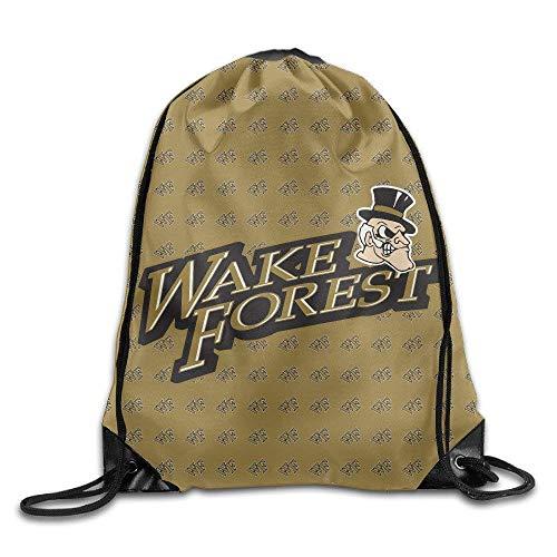 SDtaiantaishans Wake Forest Demon Deacons Drawstring Backpack Sack Beam Port Bag