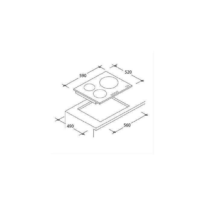 Candy CH63CT/1 Integrado Placa de inducción negra (Integrado ...