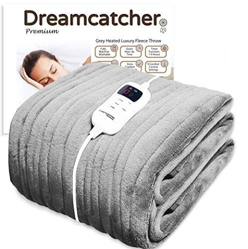 Dreamcatcher Luxurious Electric Heated Throw, Supersize 200 x 130cm Soft...