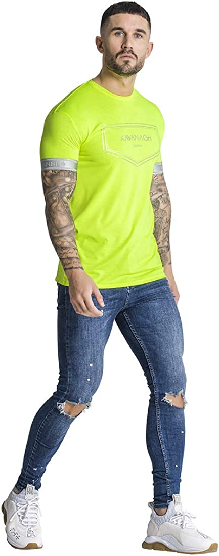 Gianni Kavanagh Neon Yellow Sunrise tee Camiseta Hombre