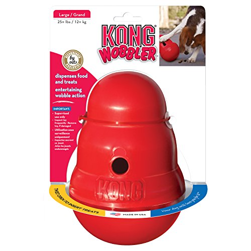 KONG Wobbler Treat Dispensing Dog Toy, Large