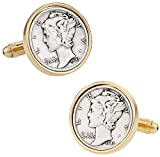 Cuff-Daddy Mercury Dime Coin Cufflinks with Presentation Box