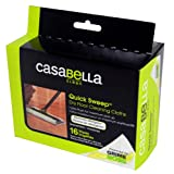 casabella wet mop refill - Casabella Dry Floor Cleaning Cloths for Quick Sweep Wet and Dry Disposable Cloth Sweeper, 16 Count