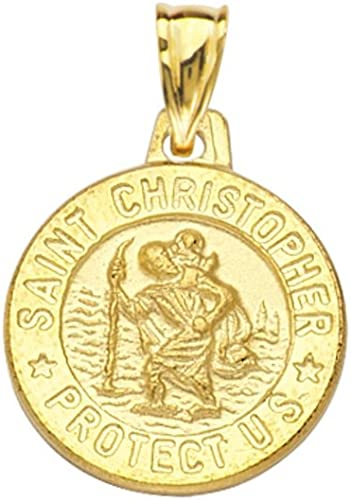 St Christopher Charm//Pendant Tibetan Antique Silver 33mm  2 Charms DIY Jewellery