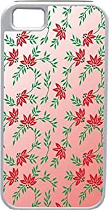 Blueberry Design iPhone 5 5S Case Cover Pink Background Red and Green Floral Illustration