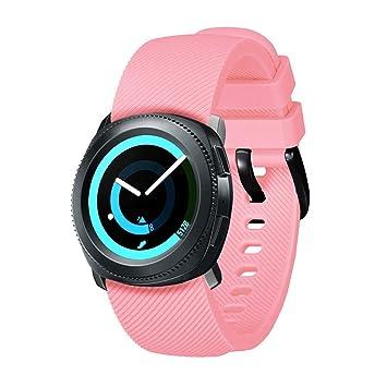 AOLVO - Correa de Reloj Compatible con Samsung Gear Sport, Correa de Repuesto para Reloj Inteligente Samsung Gear S2 Classic/Xiaomi Huami Amazfit Bip Youth: ...