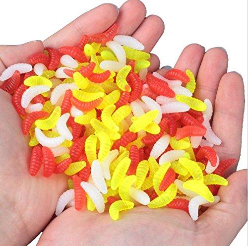 100pcs-2cm-035-grams-plastic-artificial-winter-maggot-grub-protein-soft-carp-lure-baits-worm