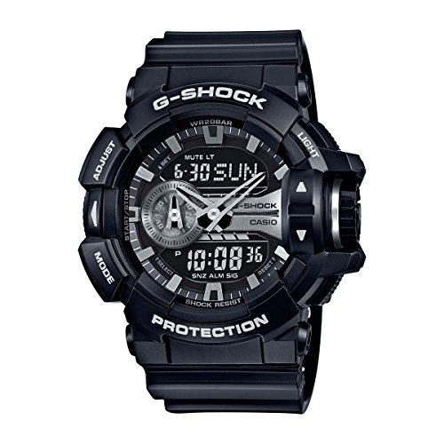 Casio G Shock Silver Tone Quartz GA400GB 1A