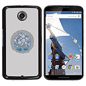 Be Good Phone Accessory // Dura Cáscara cubierta Protectora Caso Carcasa Funda de Protección para Motorola NEXUS 6 / X / Moto X Pro // Baby Pink Grey Winter Birds