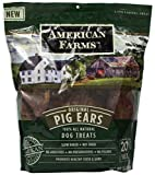 American Farms 481016 Natural Pig Ear Bagged For Pets, 30 Ounce