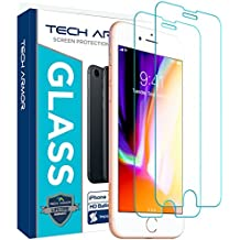 Tech Armor Apple iPhone 6 Plus/6s Plus, iPhone 7 Plus, iPhone 8 Plus Ballistic Glass Screen Protector [2-Pack]