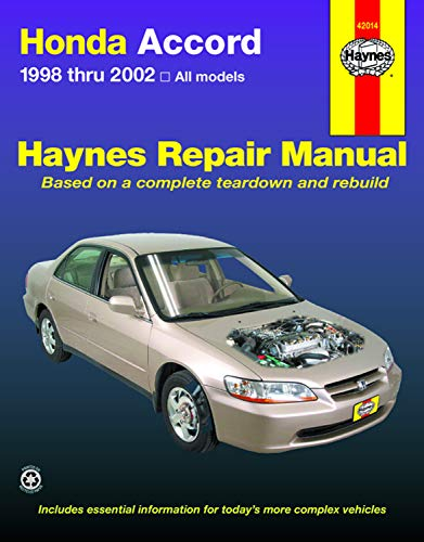 Honda Accord 1998-2002 (Haynes Repair Manuals) from Haynes