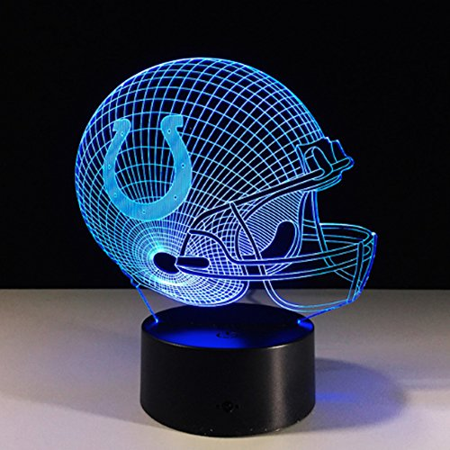 - Football Helmet Light - Touch Control Football Helmet Light- Upgraded Color Changing Touch Light - Night Light for Boys Men Women - Perfect Gift for Football Sports Lovers (Indianapolis Colts)