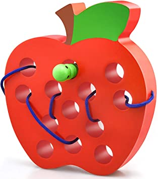 Colorful Wooden Worm Eat Fruit Baby Kid Child Developmental Toys Xmas Gift HOT S