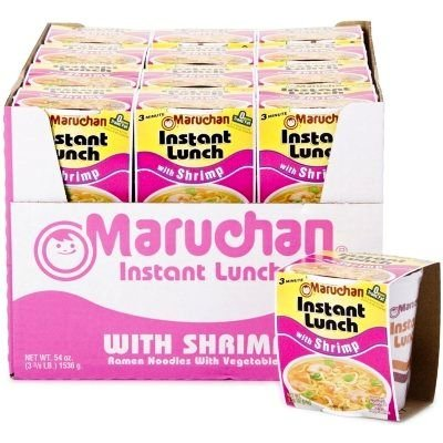 Maruchan Instant Lunch Ramen Noodles with Vegetable, Shrimp, 54 Ounce ()