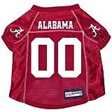 Alabama Crimson Tide Premium NCAA Pet Dog Jersey w/ Name Tag MEDIUM