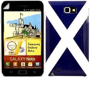 Flag Gebundene Ausgabe Fall Decken Schale Und Screen Protector Fürr Samsung Galaxy Note i9220 / Saint Andrew's Cross