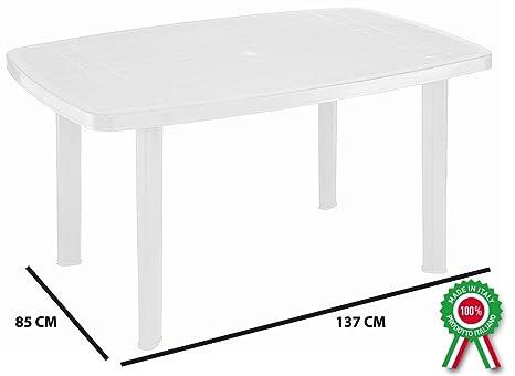 Tavolo In Plastica Bianco.Tavolo Tavolino Rettangolare In Resina Di Plastica Bianco