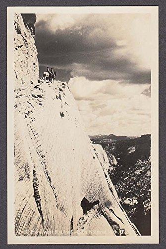 From West Rim Trail Zion National Park UT RPPC postcard 1950s