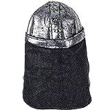 Tigerdoe Knight Helmet - Crusader Costume - Soldier Hat - Medieval Costumes - Warrior Helmet Silver
