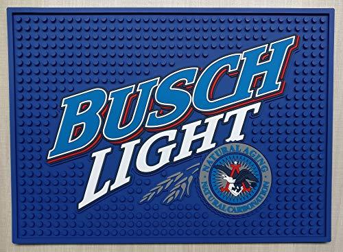 Busch Light Bar Mat Professional Spill Mat Wait Station Drip Mat 12x9 Coaster]()