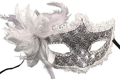 Coxeer Masquerade Women Mardi Flower