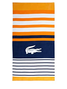 Lacoste regate naranja toalla de playa/Beach Towel 180 x 90 cm: Amazon.es: Hogar